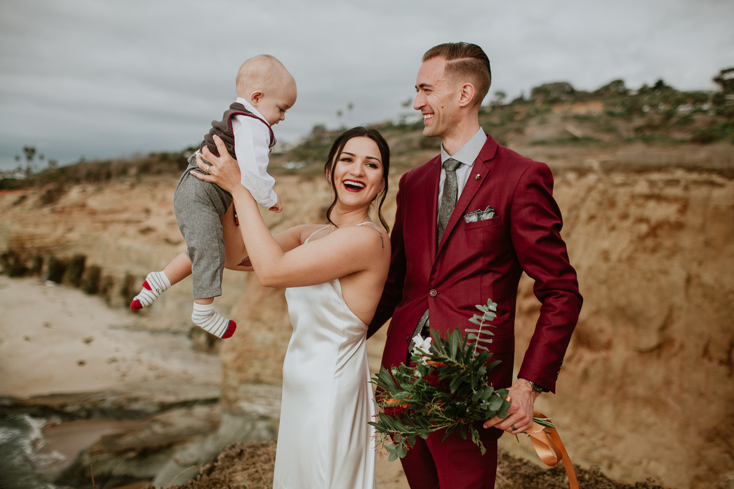 sunset cliffs elopement photographer