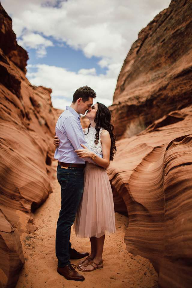 Antelope Canyon Engagement photographer