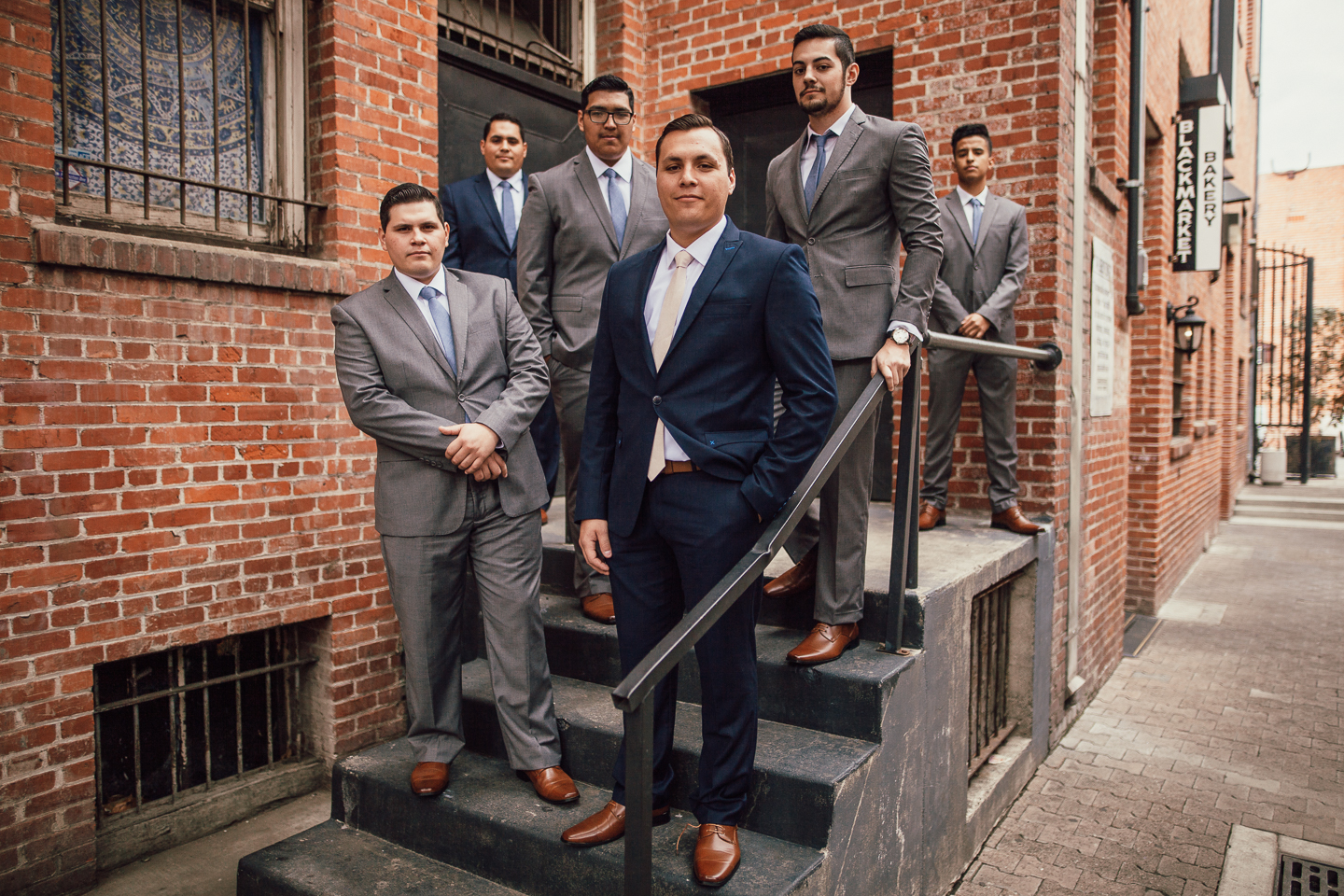 groomsmen in blue