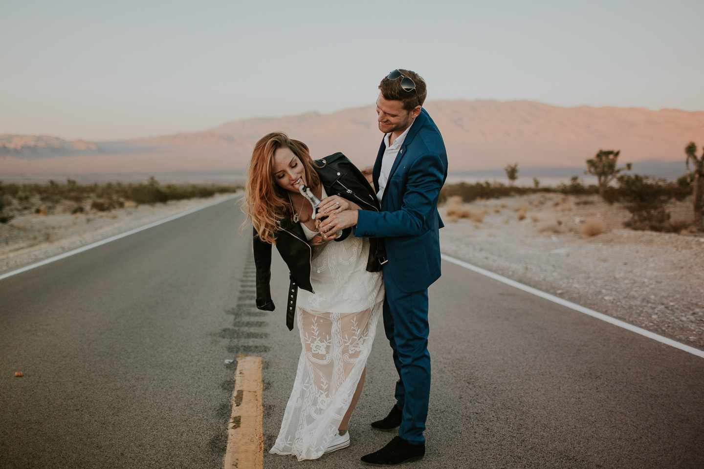 fun vegas elopement