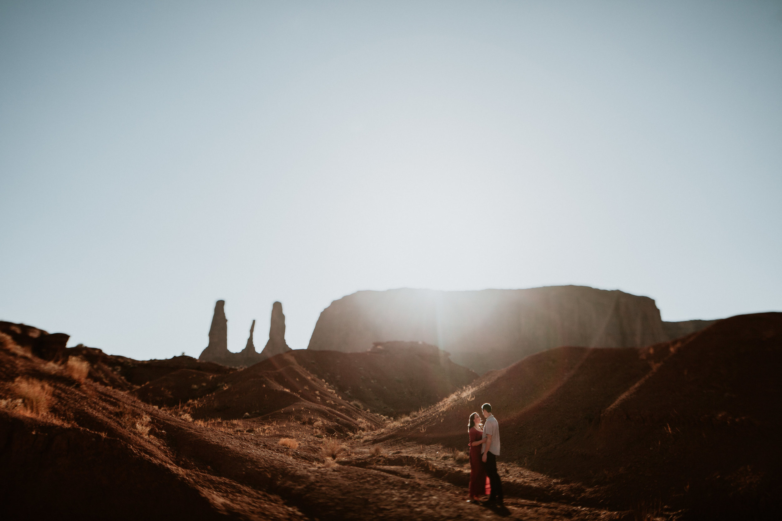 Monument valley engagement photography