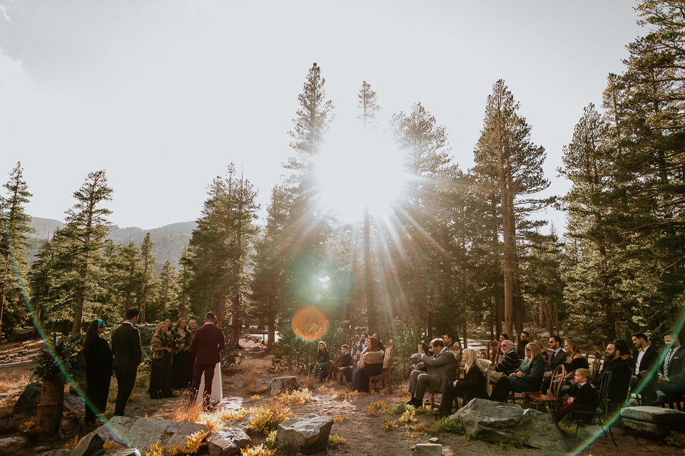 Mammoth lakes wedding ceremony