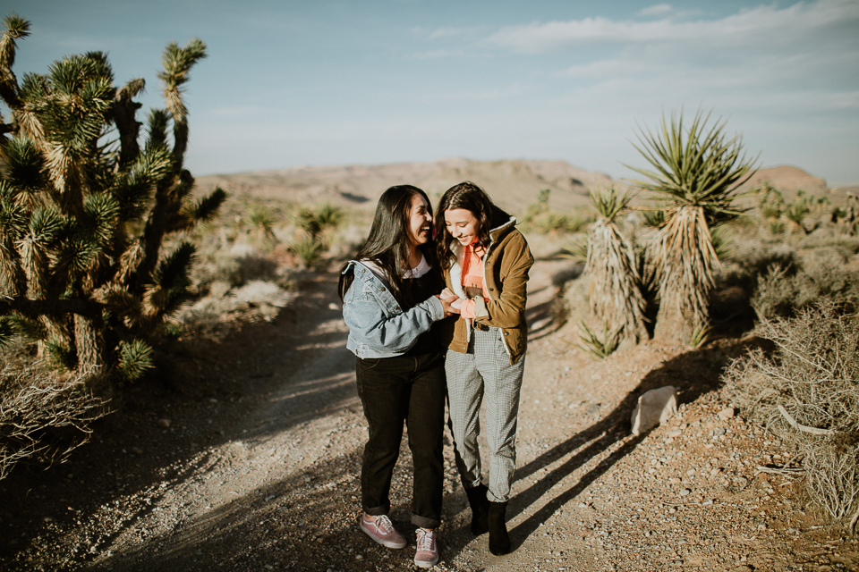 styled same sex engagement session
