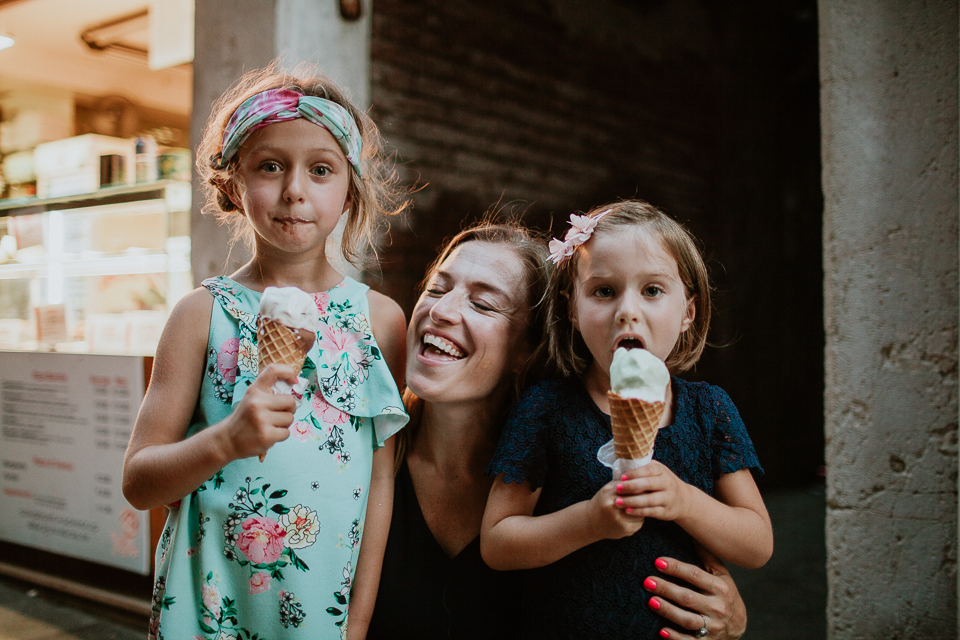 family photos ice cream