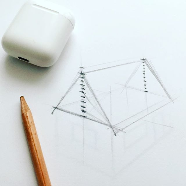 Sketch. Music. Sharpener?  #graphicdesign #sketch #earpods #stilllife