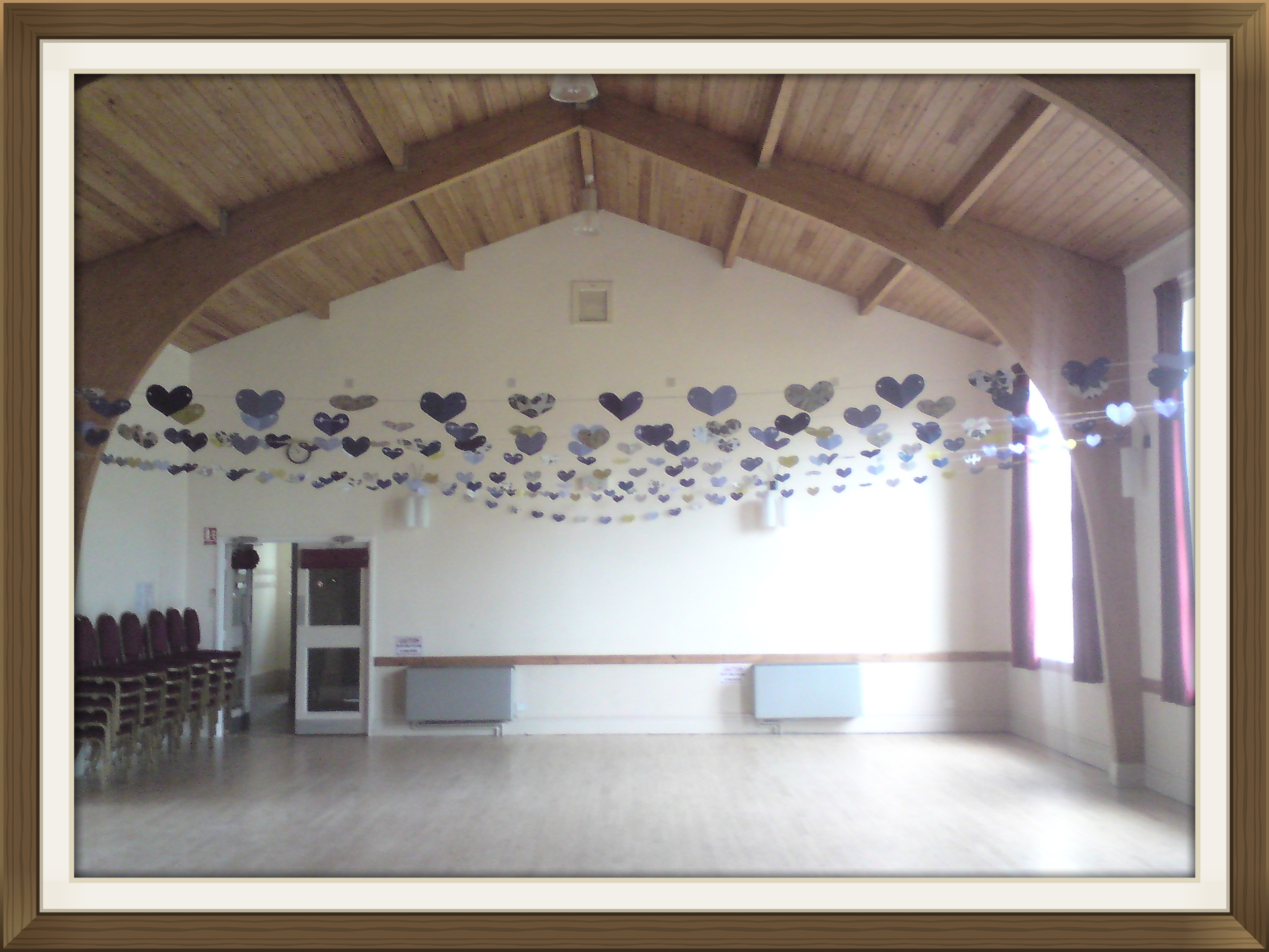Village hall large room party venue