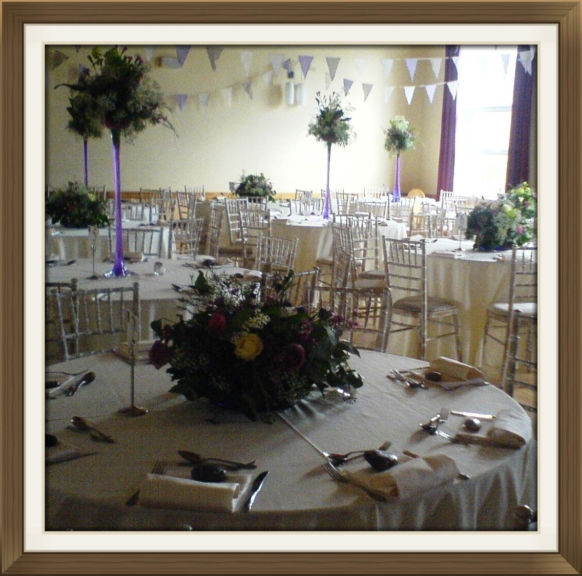 Village hall wedding venue table settings 4
