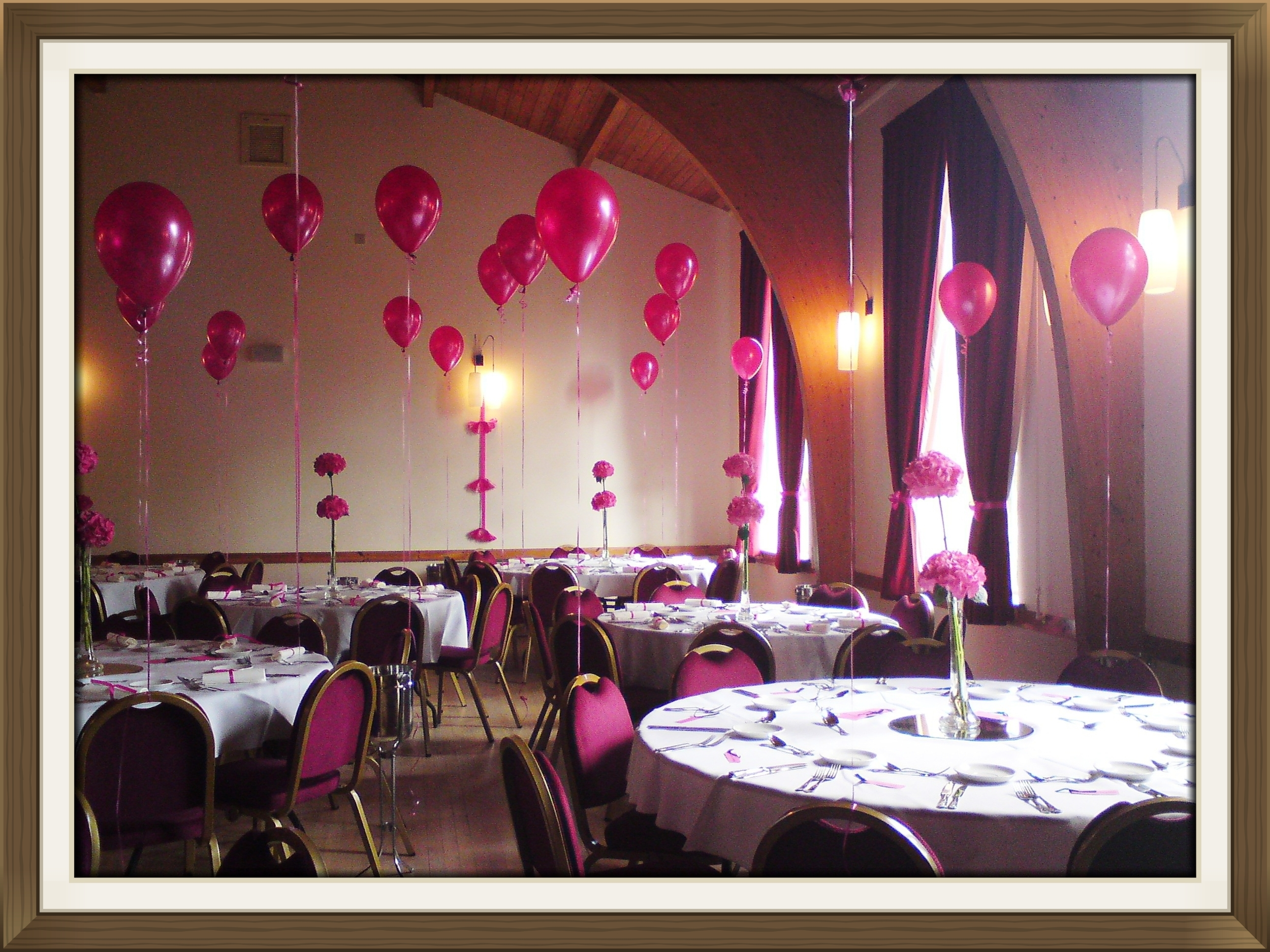 Village hall wedding venue table settings 5