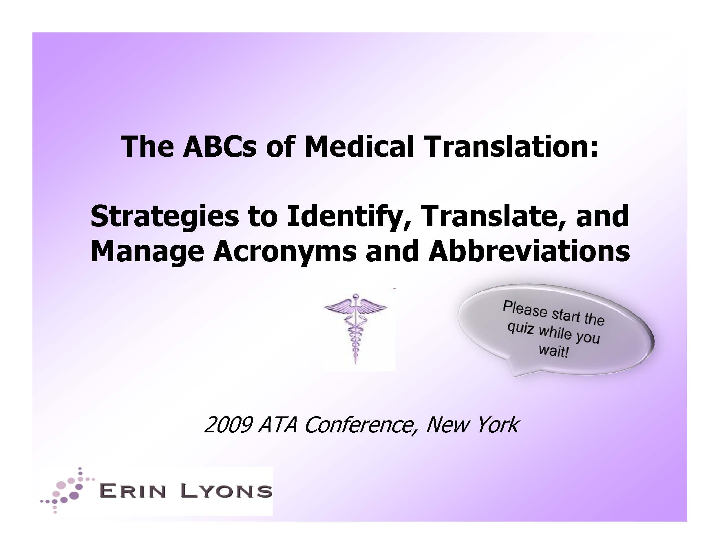 2009 ATA Conference