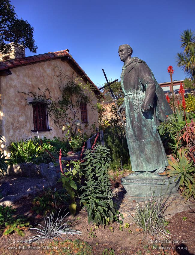 Statue-of-Father-Junipero-Serra-at-the-Carmel-Mission-Carmel-CA-by-Bill-Heller.jpg