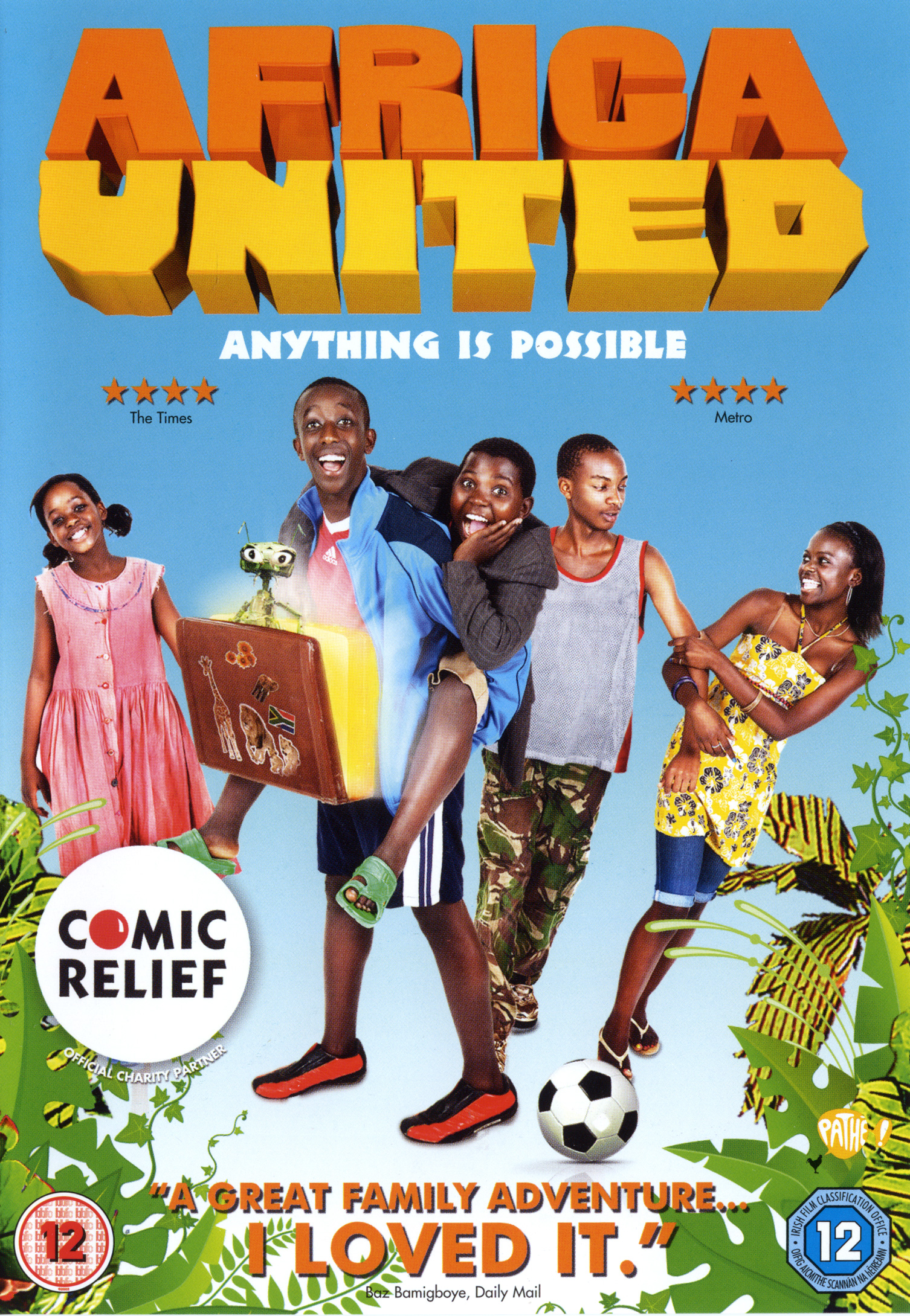 The feature film   Africa United   tells the story of five kids who travel two thousand miles from Rwanda to the World Cup finals in South Africa.  The movie was made without stars and shot in Burundi - a first.