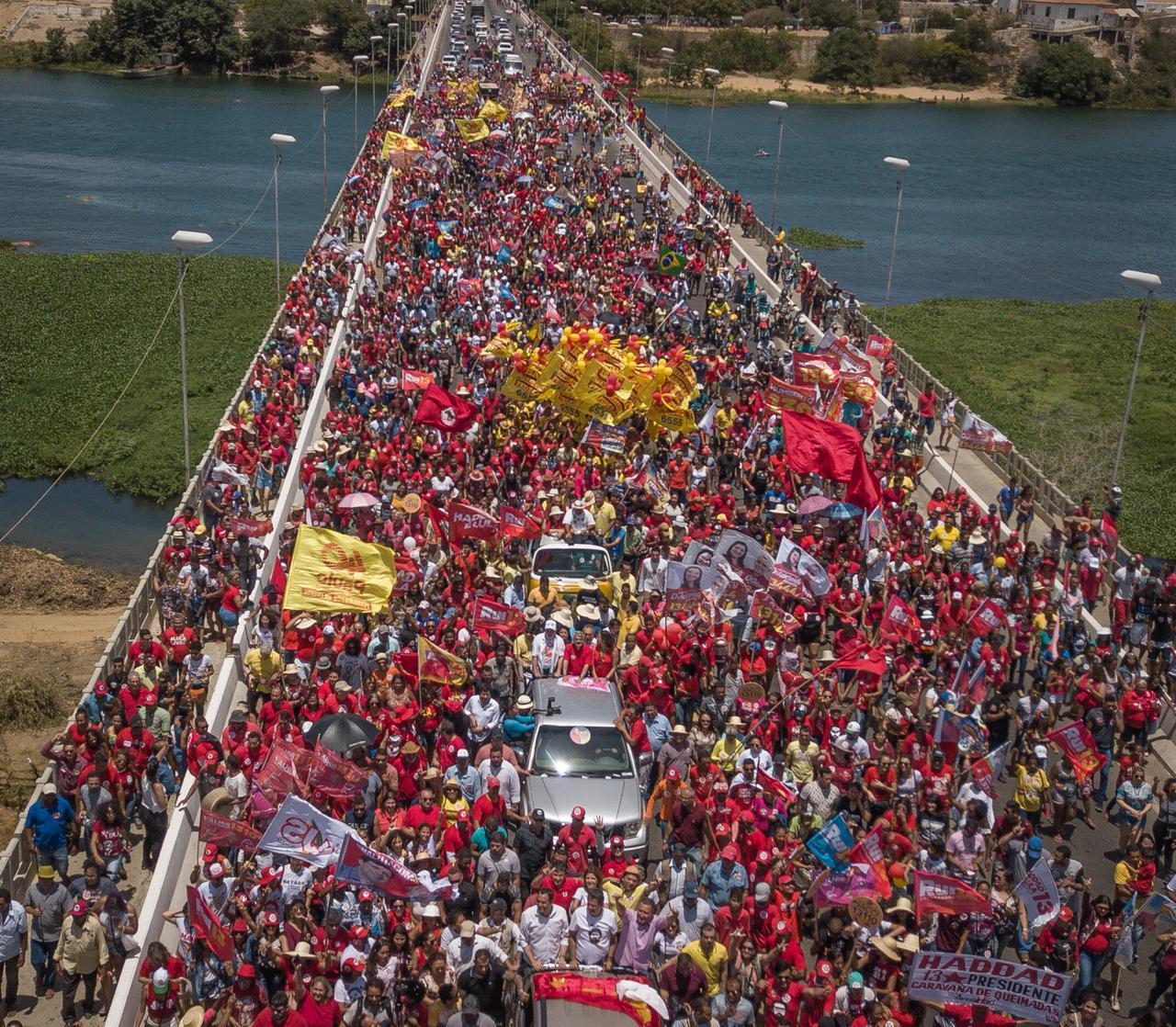 Haddad en campagne dans le Nordeste du Brésil, le 21/09