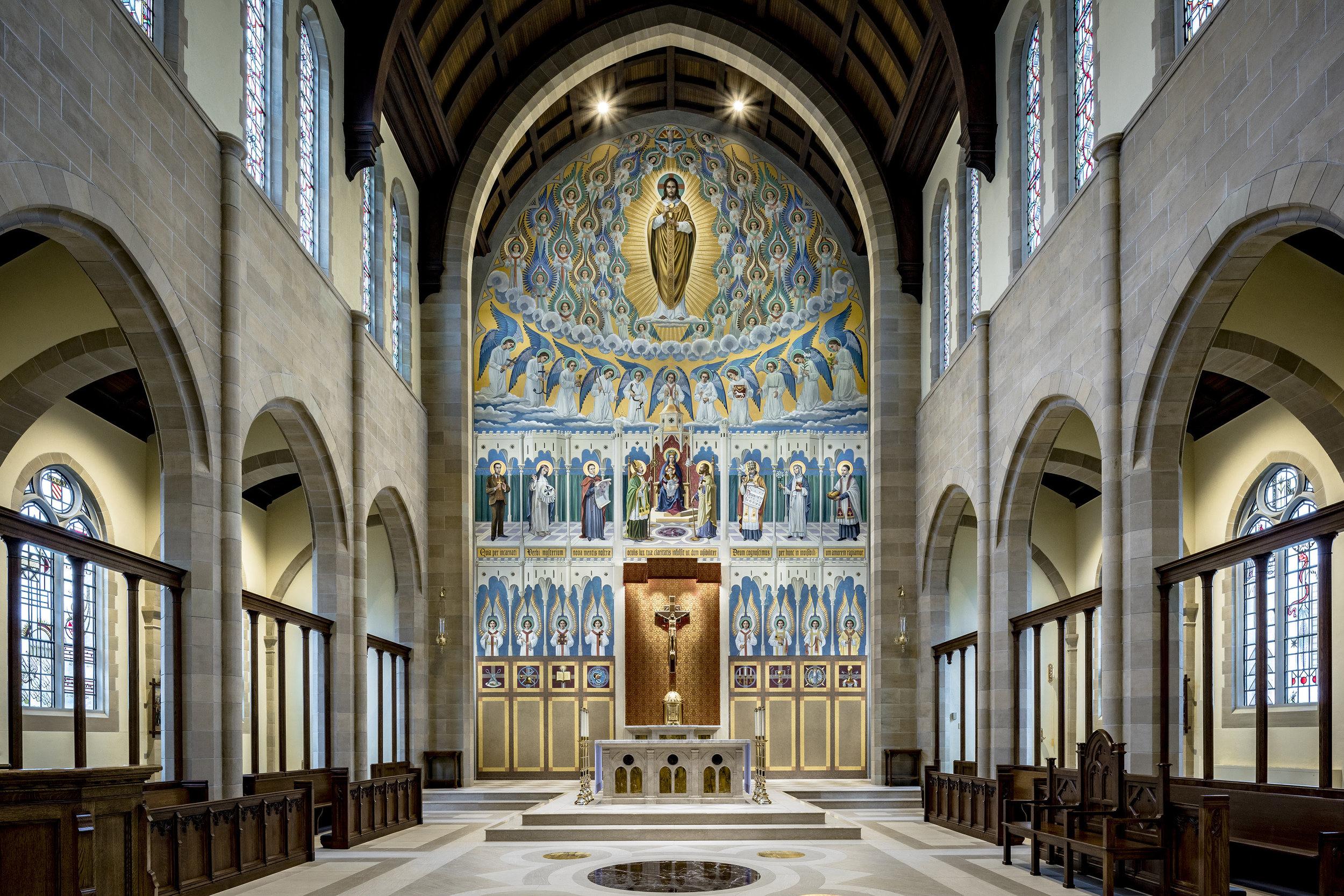 St Turibius Chapel mural at the Josephinum Pontifical College