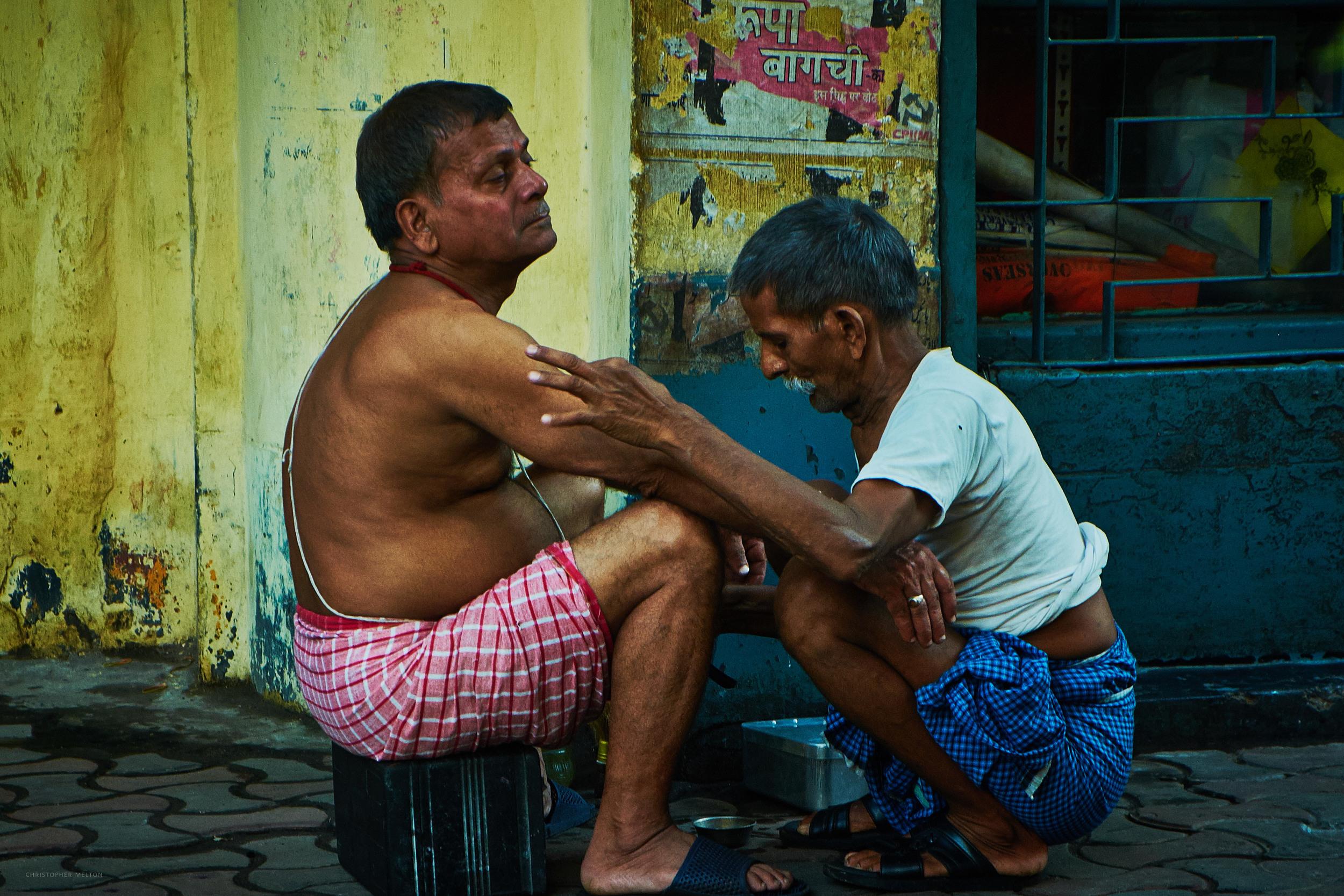 Morning Shave, Kolkata.