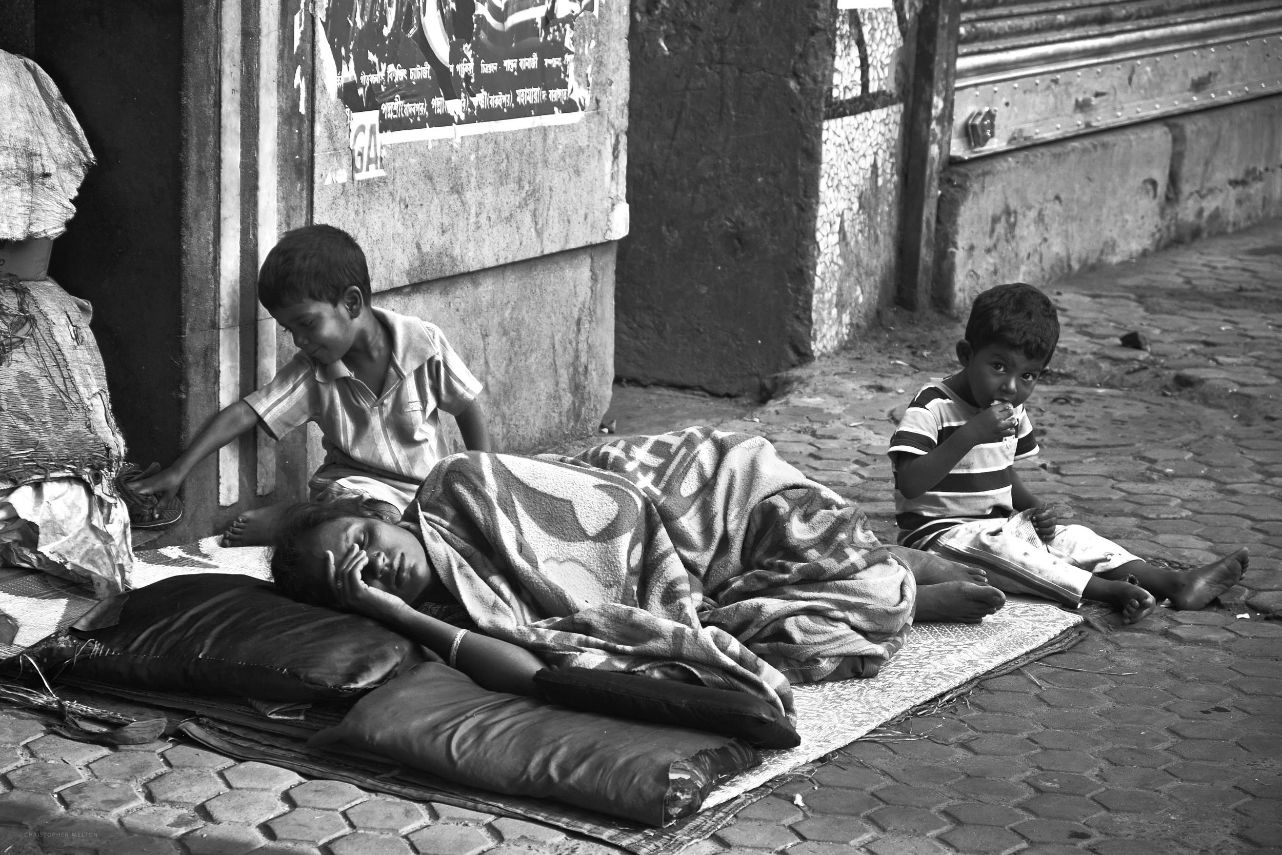 Mother and Sons, Kolkata.