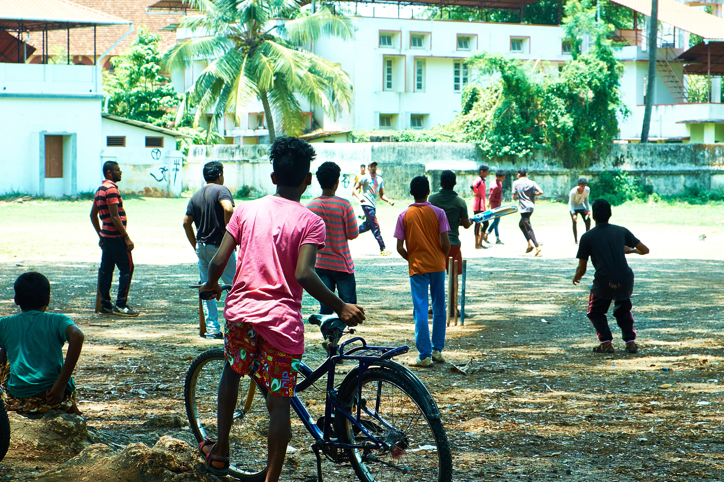 Cricket Game, Fort Kochi.