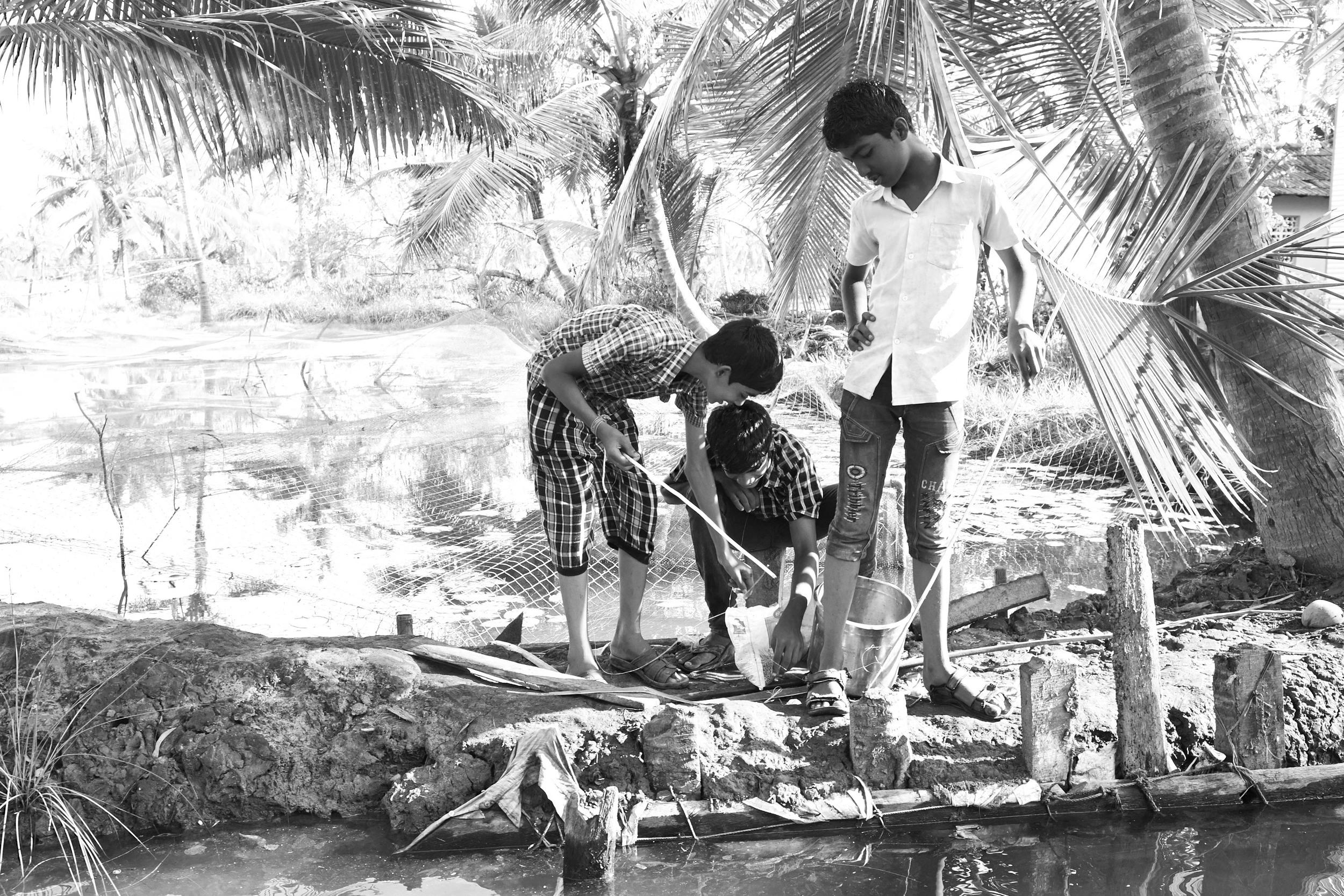Fishing Boys, Munroe Island.