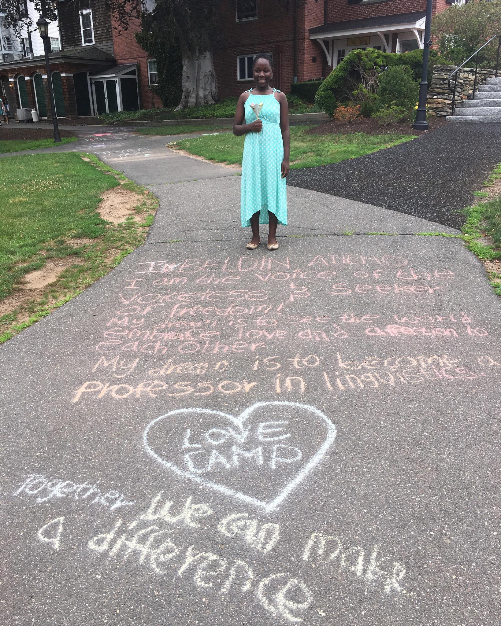 Beldin and her original and inspiring chalk art!