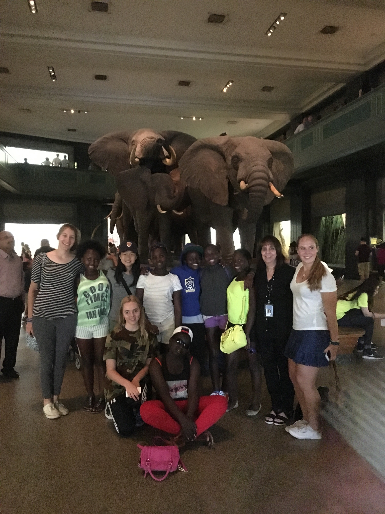 A visit to the Museum of Natural History with students from the Chapin School