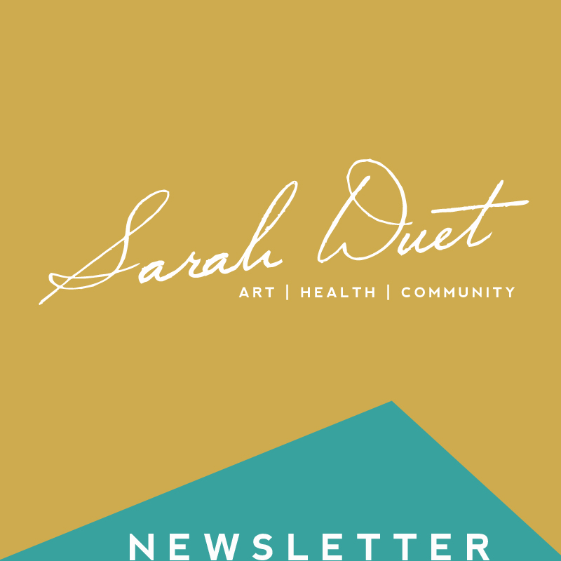 Follow Sarah's blog about all things art, health, and community in addition to her art & music being created in the context of communal life around the Yellow House at  sarahduet.com .