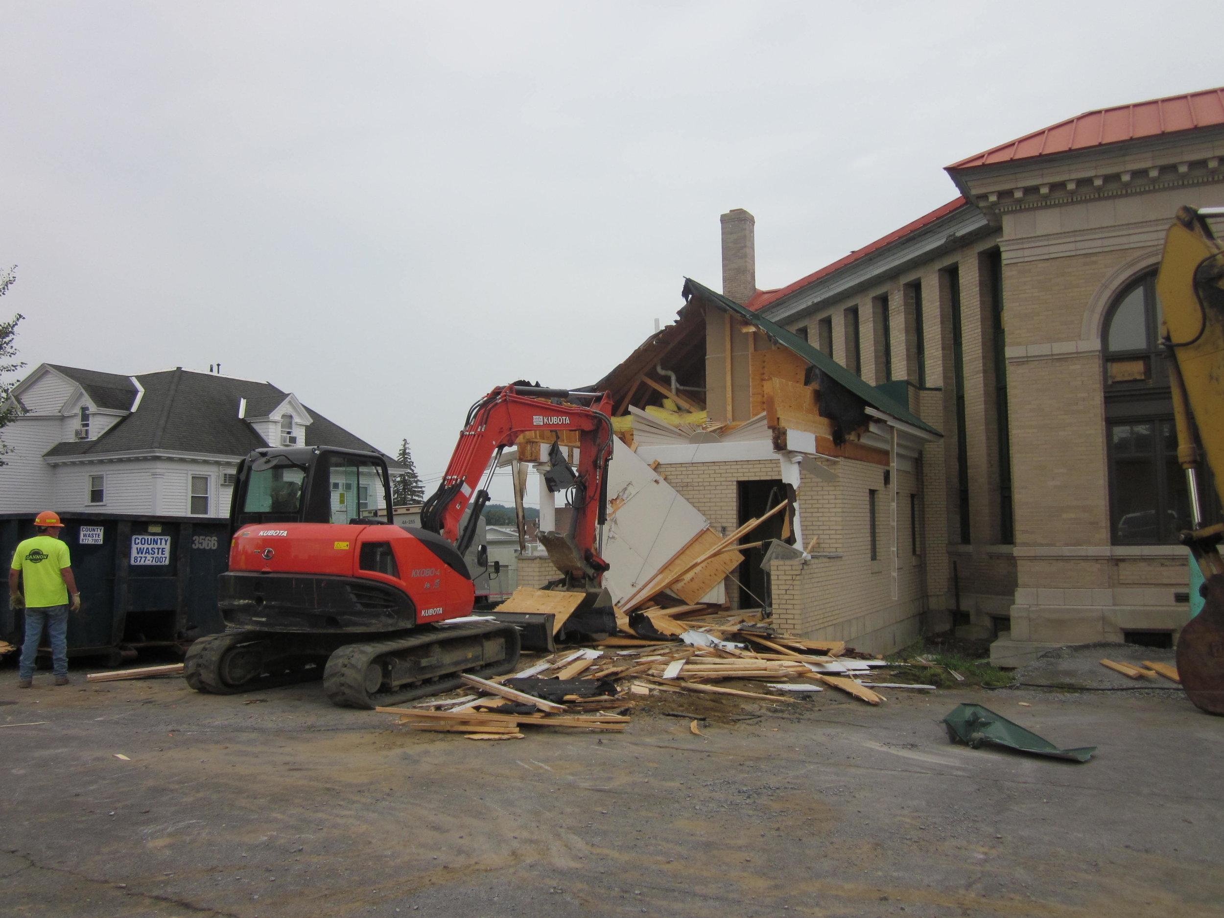 Removal of 2005 handicap entrance