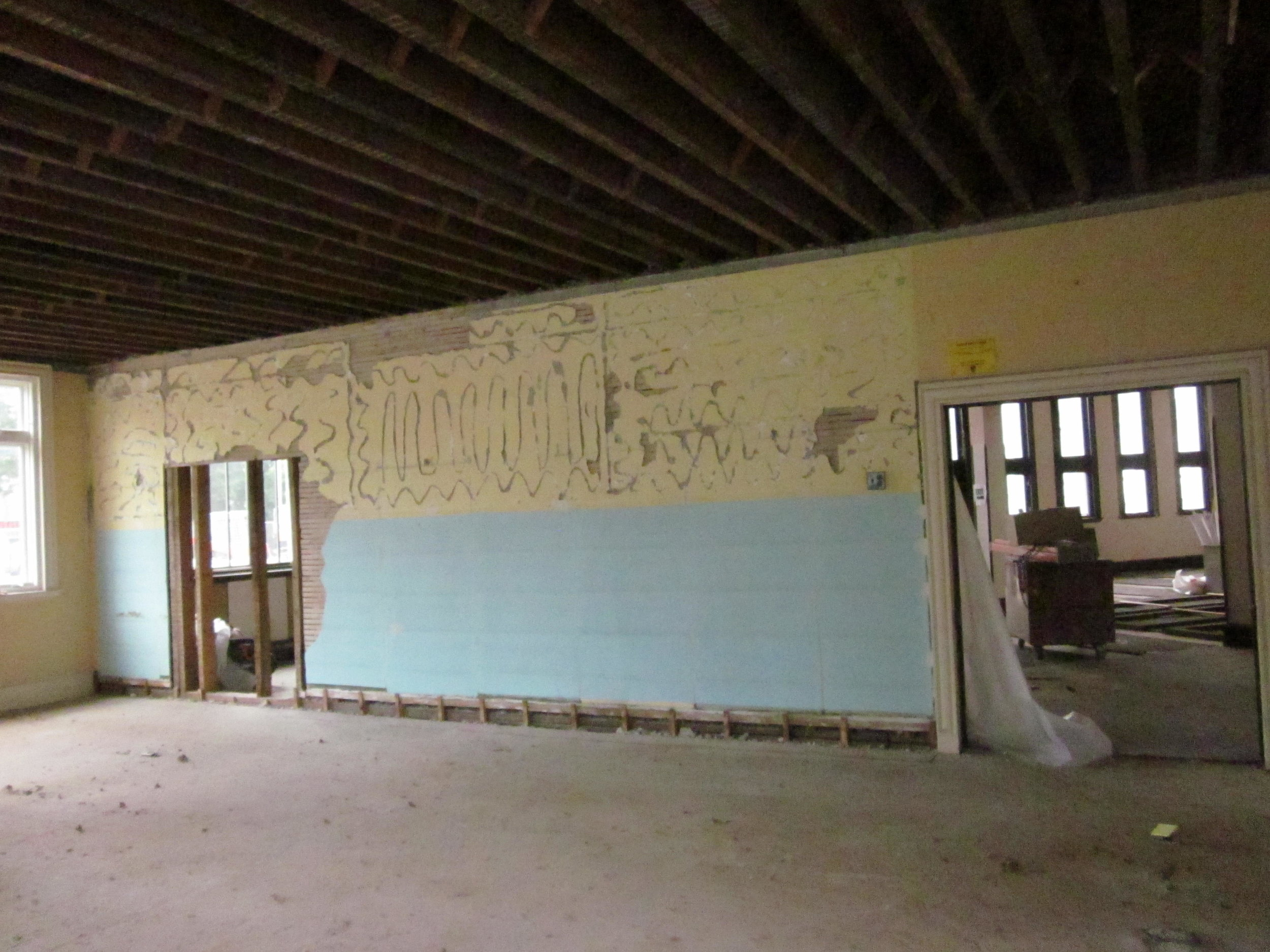 New doorway (left) from former children's room, main level north wing