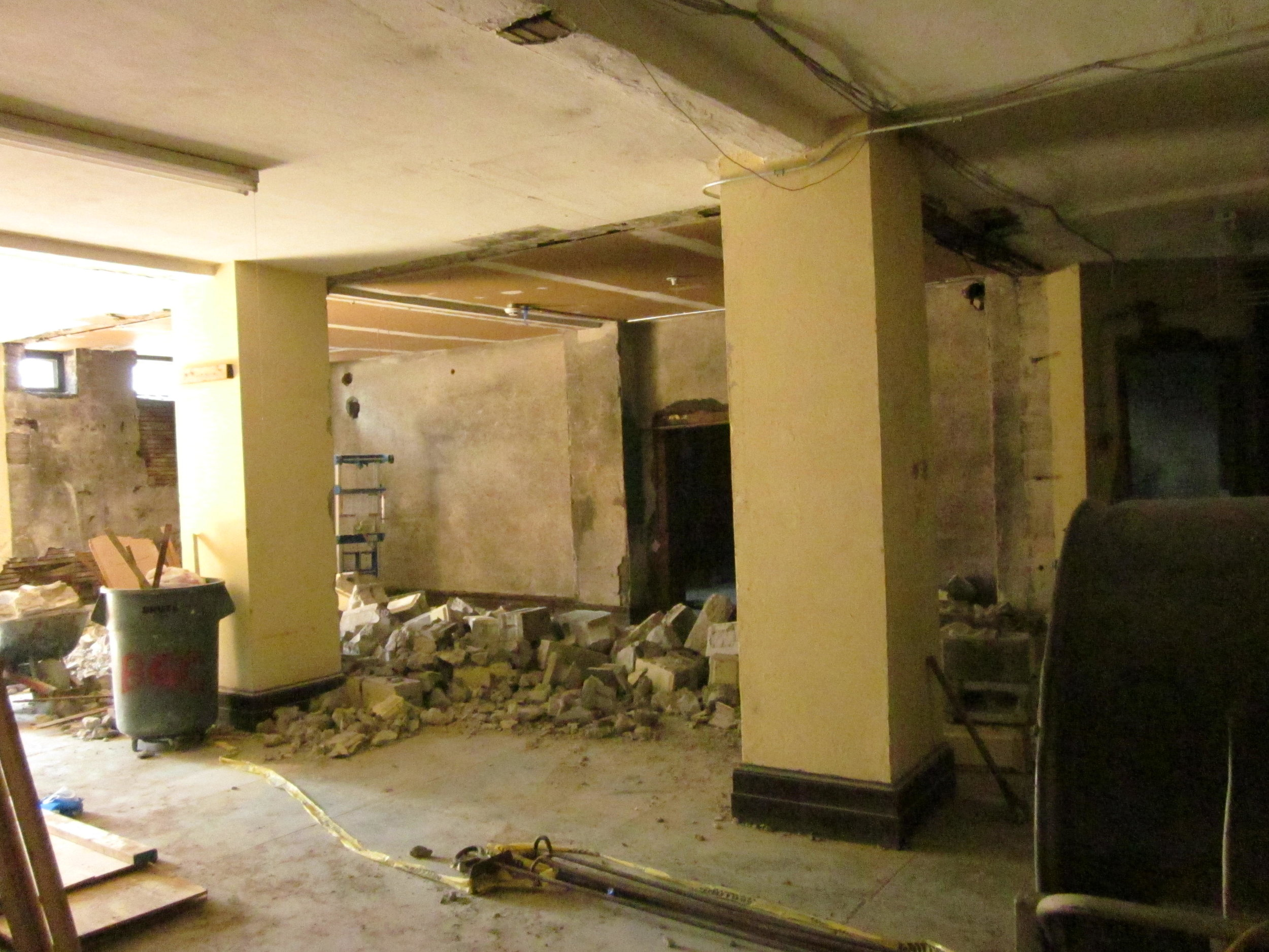 Demo in lower level to expand area