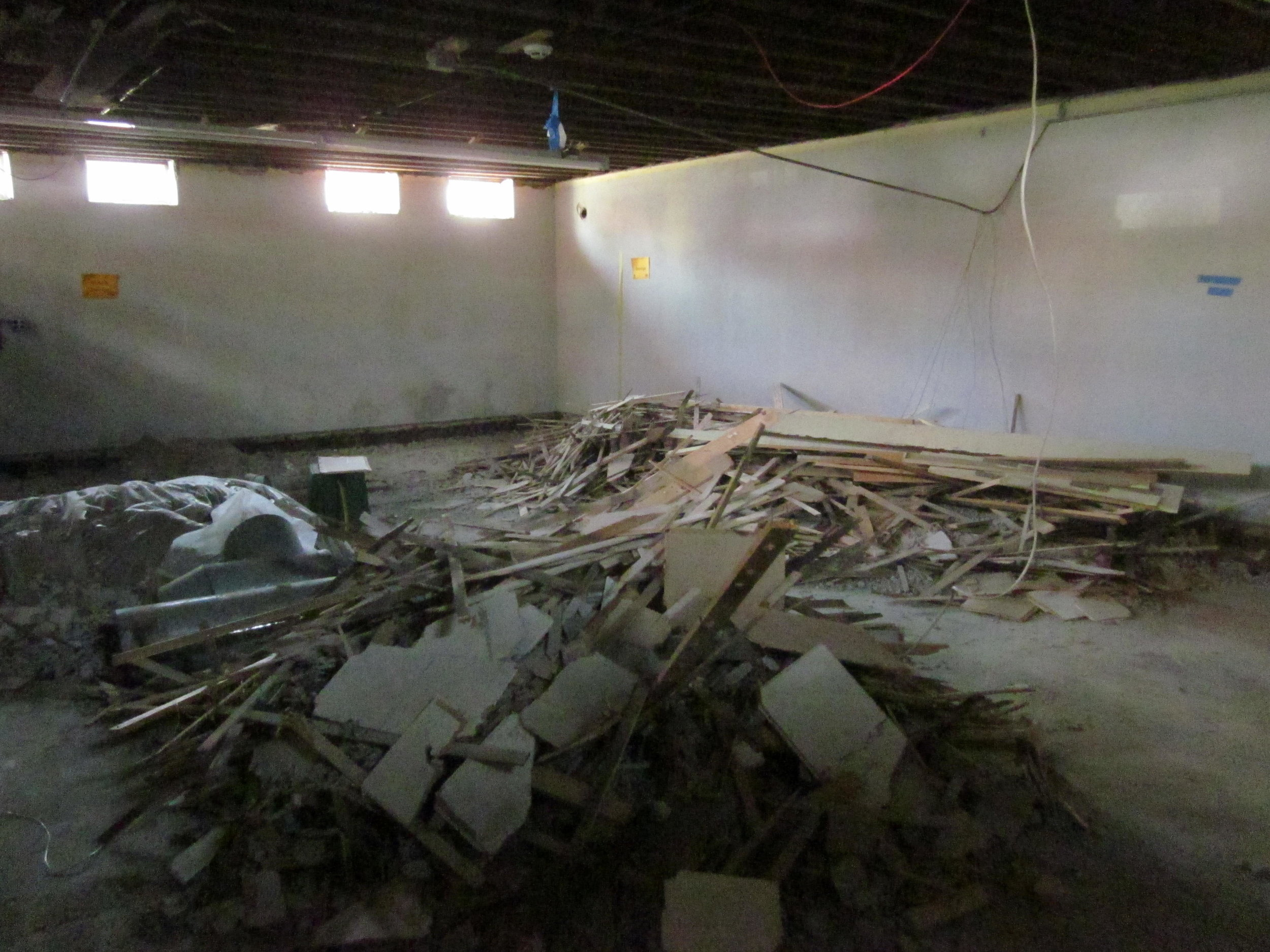 Demo in new teen space, lower level north wing