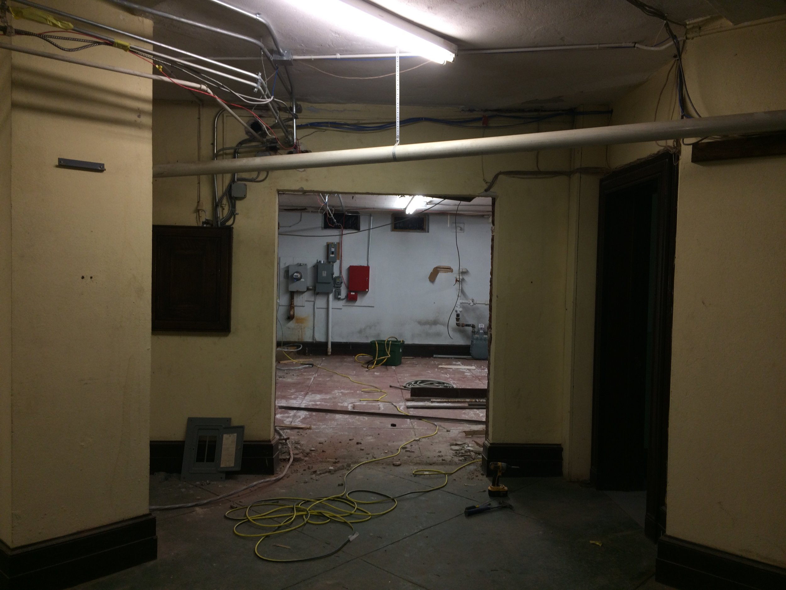 Looking toward the new teen room, lower level north wing
