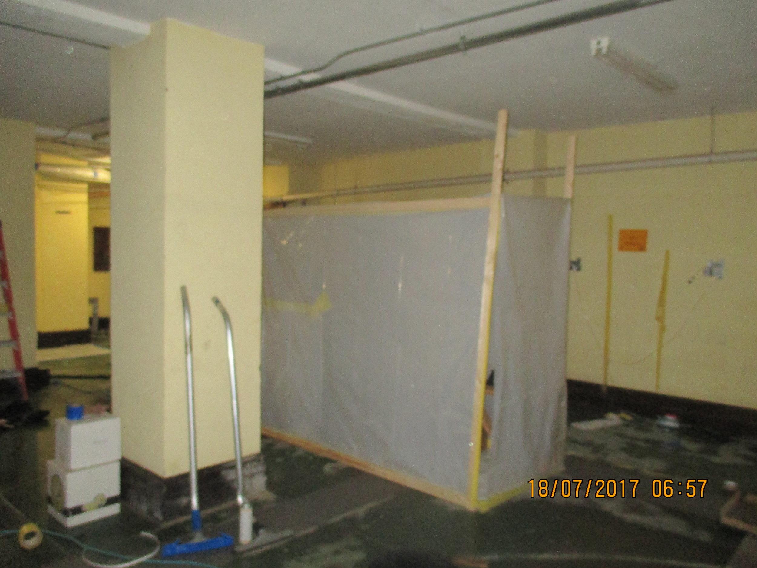 Asbestos abatement setup