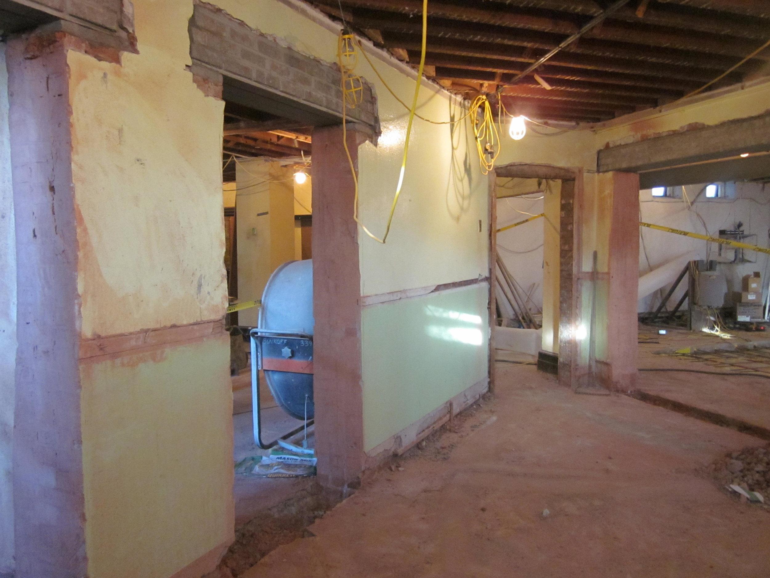New doors, lower level