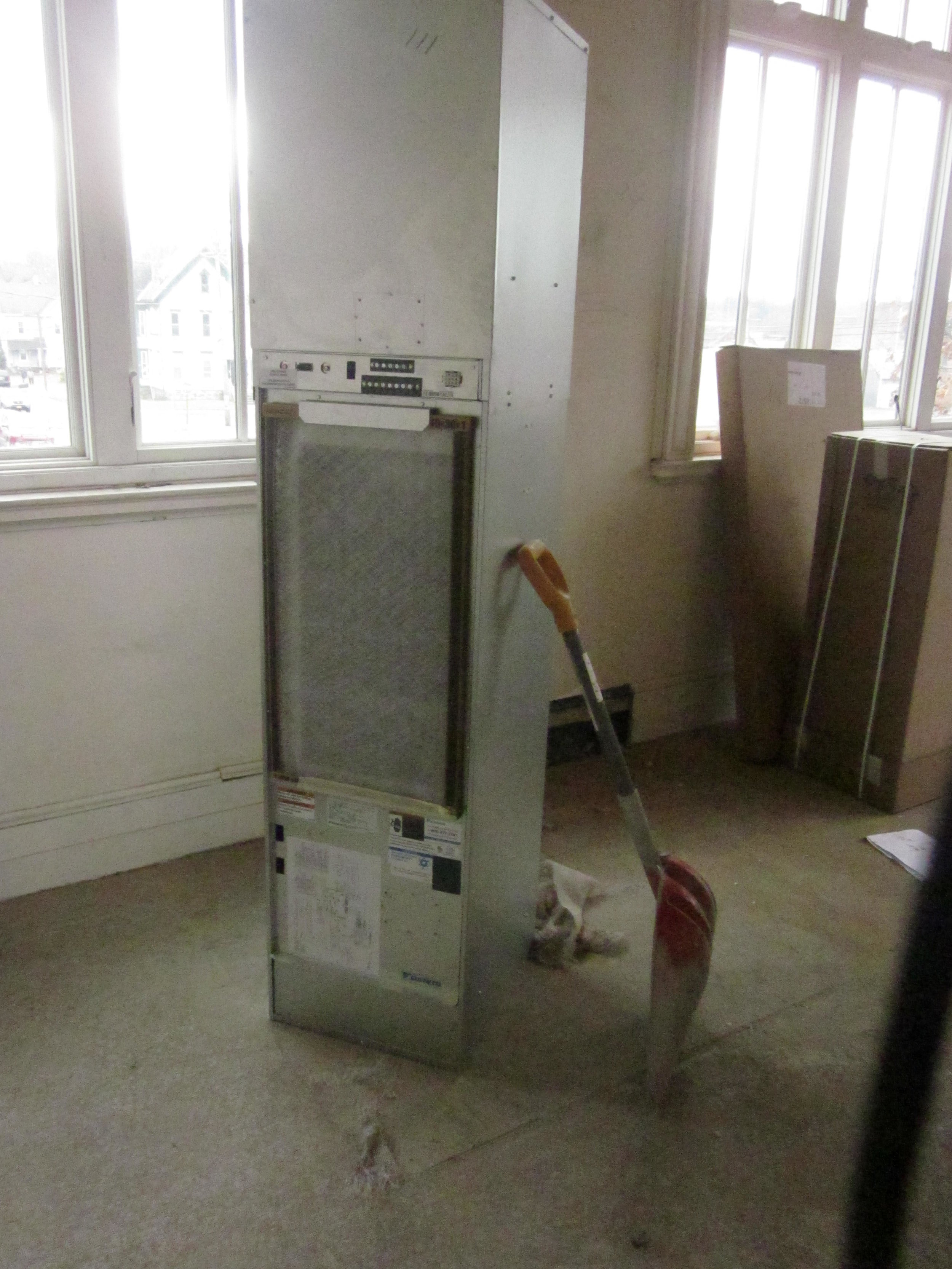 New heat pumps in each room will replace the old radiators.