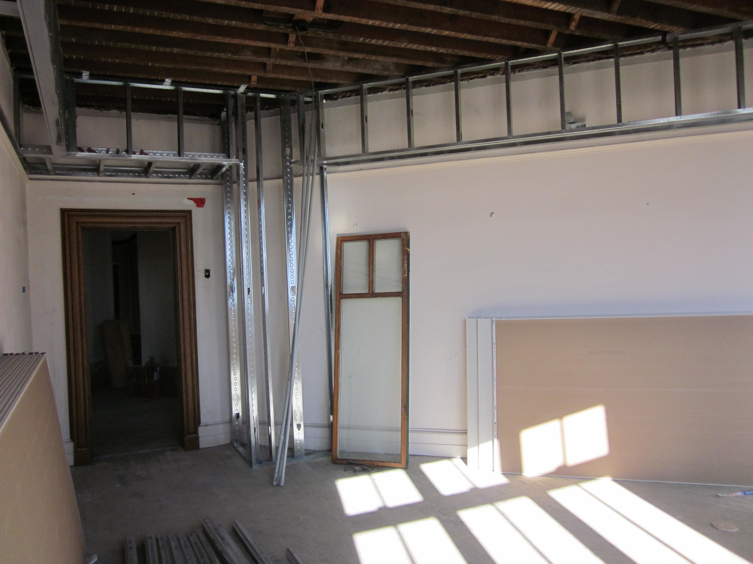 Triangle reading room will have some additions for electrical upgrades and new HVAC