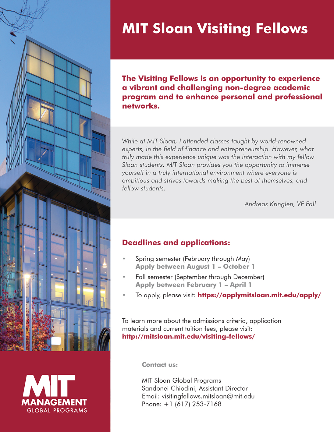 MIT Sloan Visiting Fellows Handout