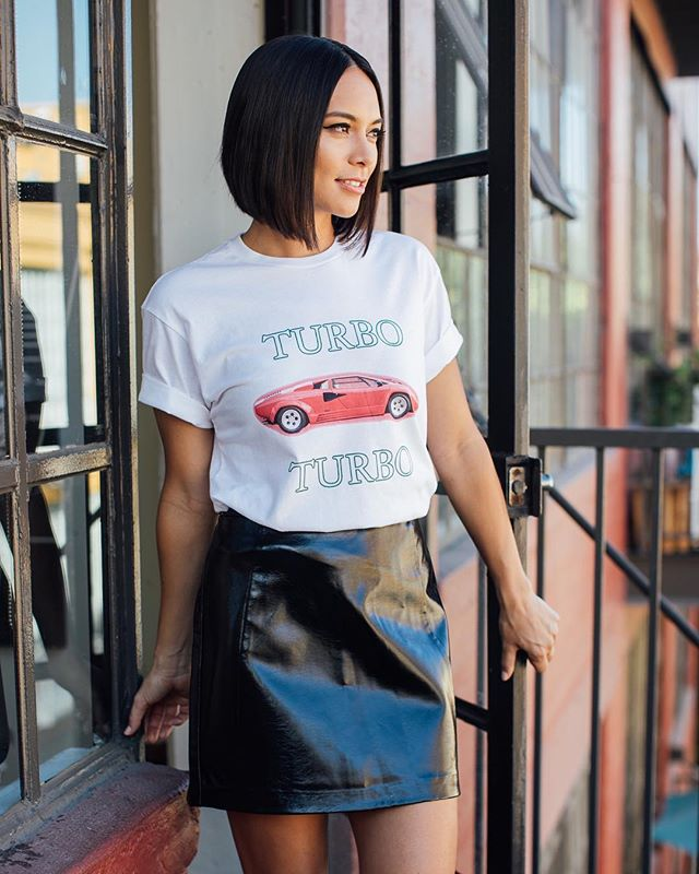 """@sonya.balmores spotted in our """"Lambo high"""" talks about portraying a warrior woman in """"Marvel's Inhumans"""". check out more @mochimag #TurboStore  All styles available at our web shop! 🏁🏁🏁"""
