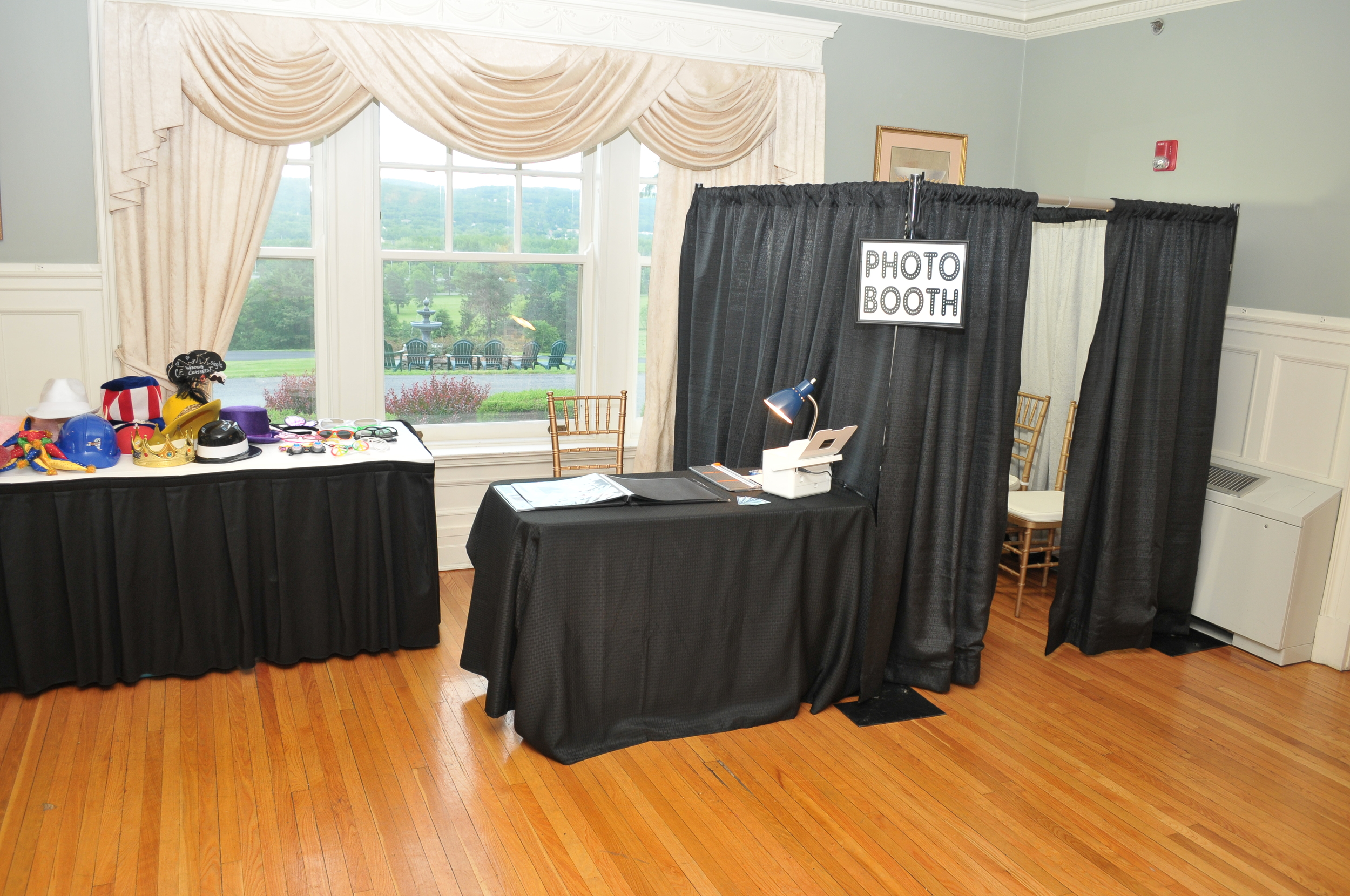 Our Booth ready for a reception at Traditions at the Glen