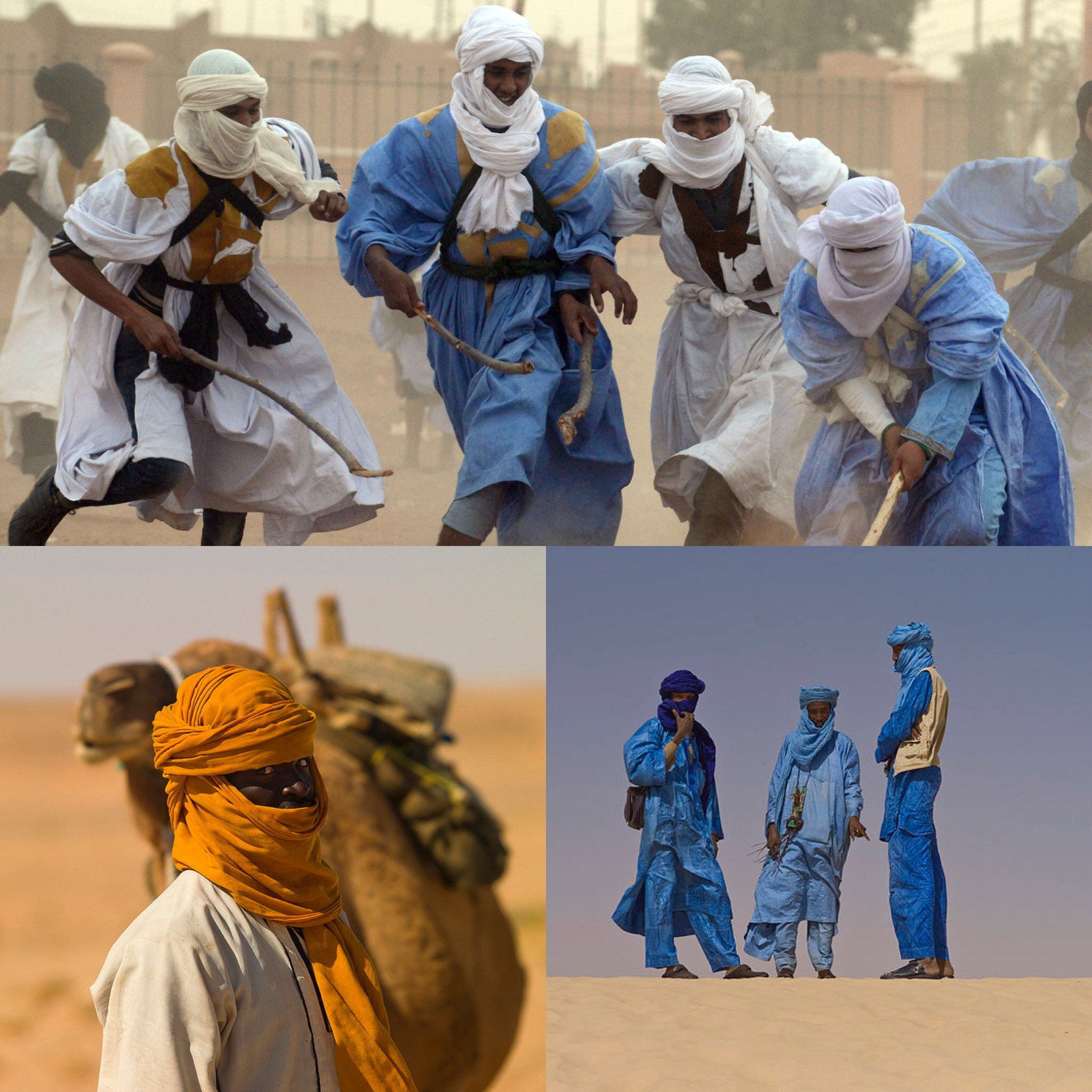 Photos captured of  Tuareg men