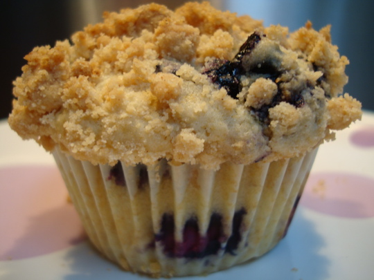 bursting with blueberries and ready to eat!