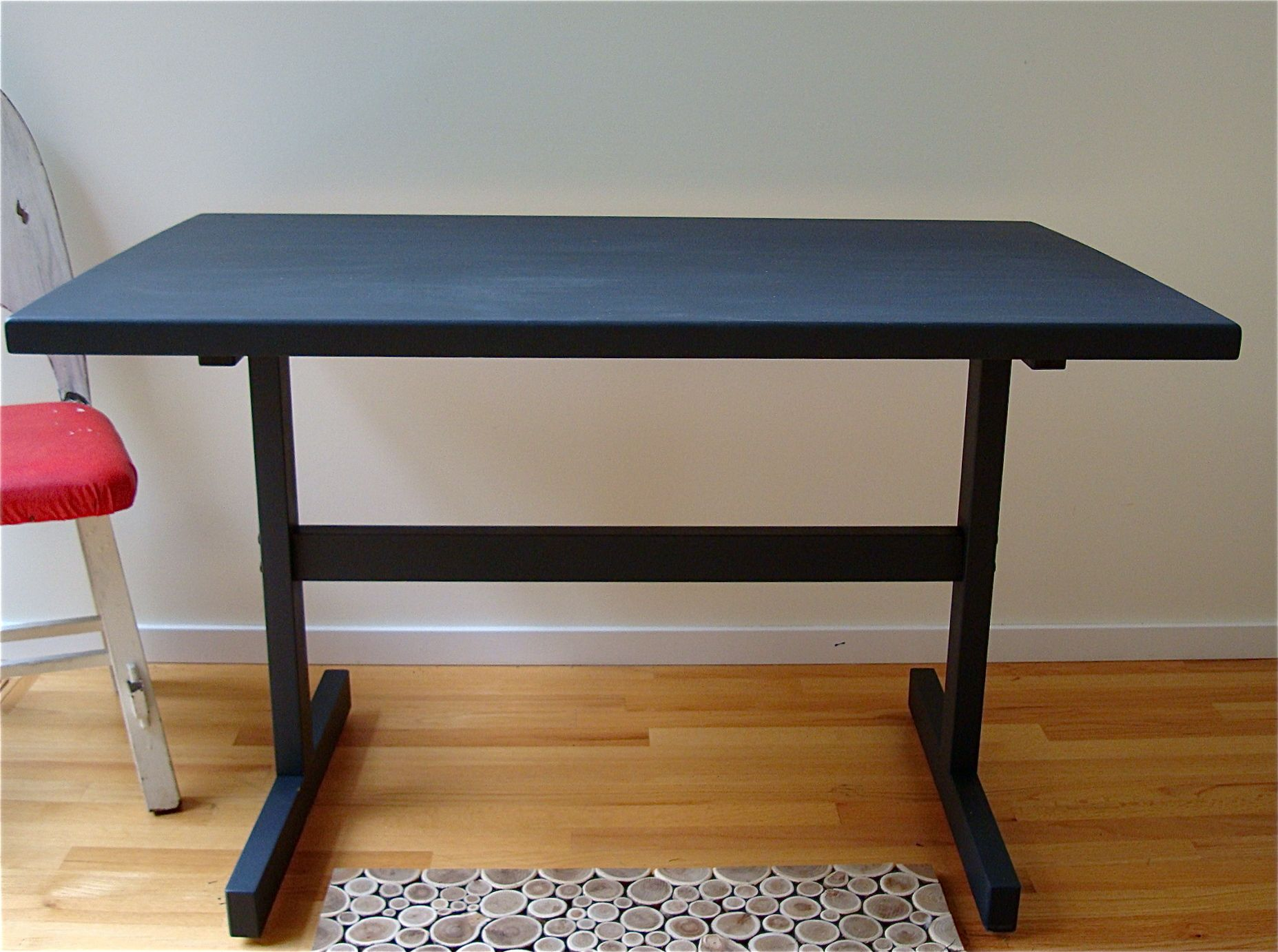 chalkboard table after