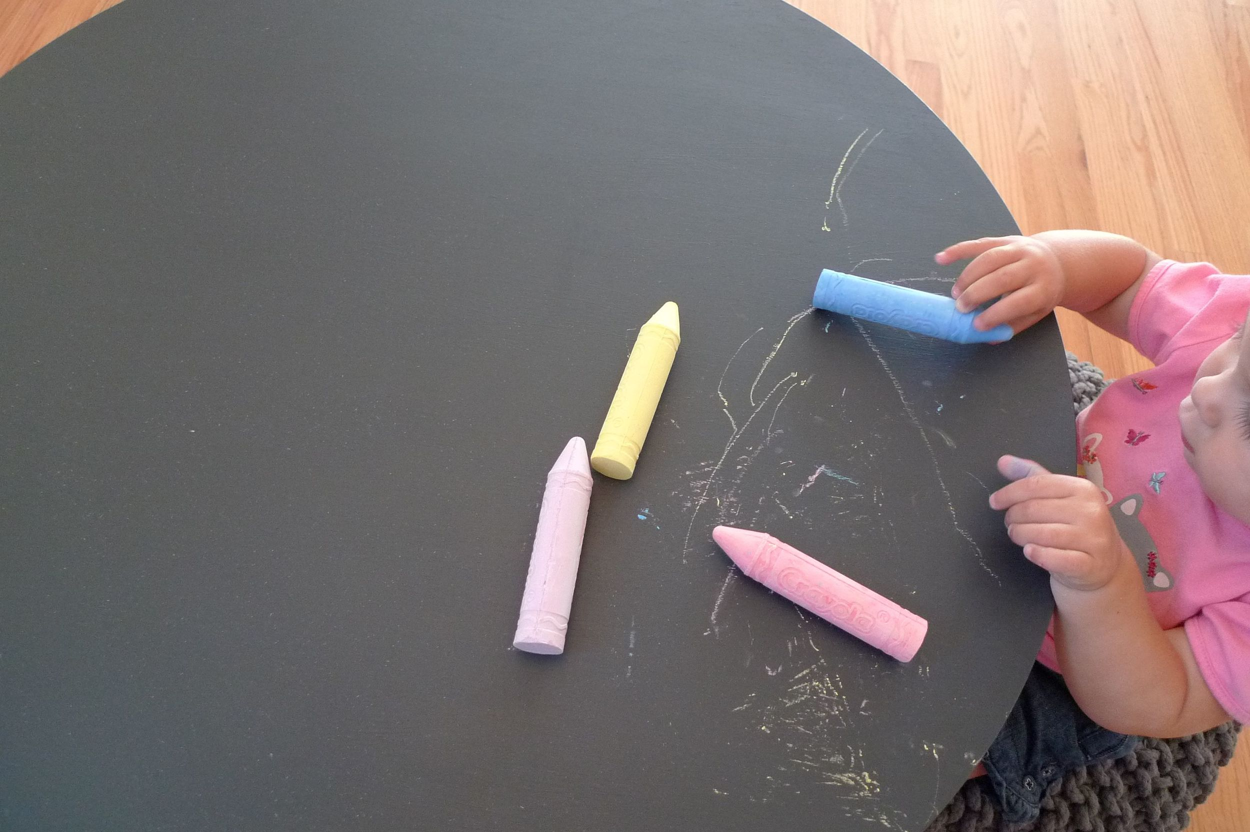 chalkboard table for the wee one