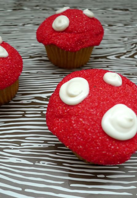 mushroom-cupcakes