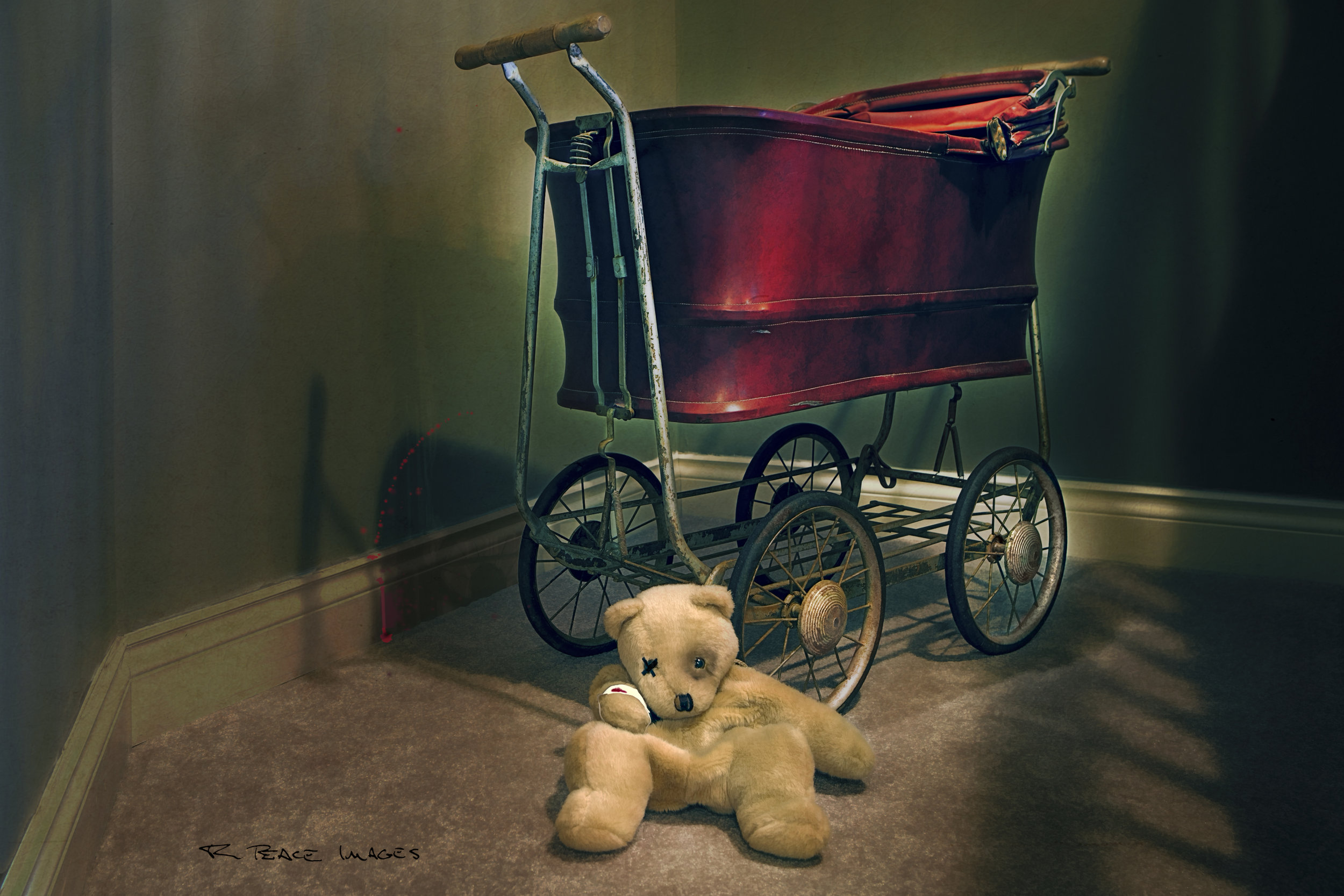 "This image won the 2019 Central Okanagan Photographic Society (COPS) photo of the year. Titled ""Bad Bear"" a dark film noir presence tells the story of perhaps an unseen occupant of the carriage and the injured bear."