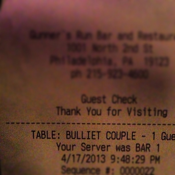 Table: Bulliet Couple. A reputation we're totally fine with. @gertigirl17