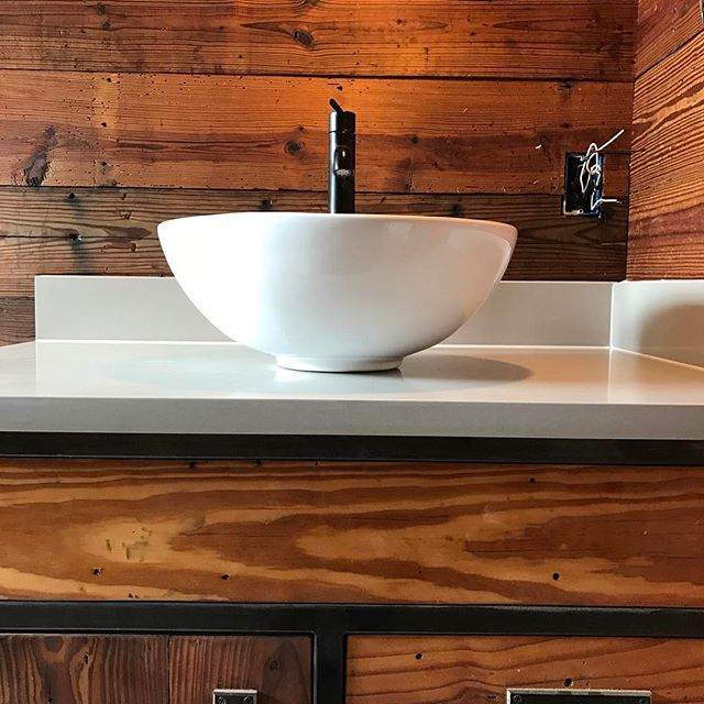 Fresh countertops! Spa-esque fixtures and finishes for this contemporary dream home.