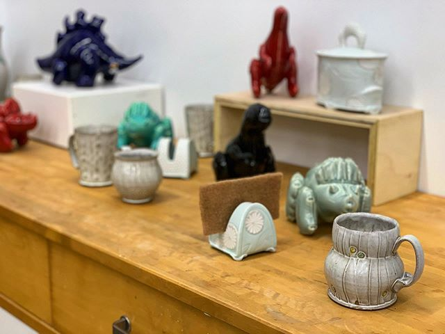 All set up at @jenallenceramics studio for the Mo'Town Studio Tour! Stop on by today from 10-4.  @motownstudiotour for details