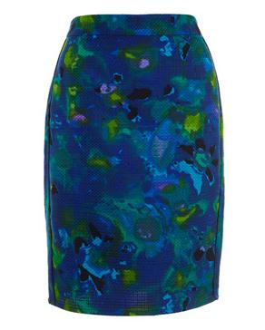 Glazed floral skirt