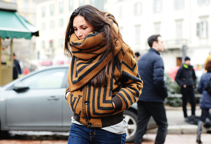 Matching scarf and bomber