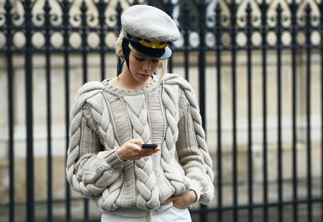 Sharp hats and structured knits