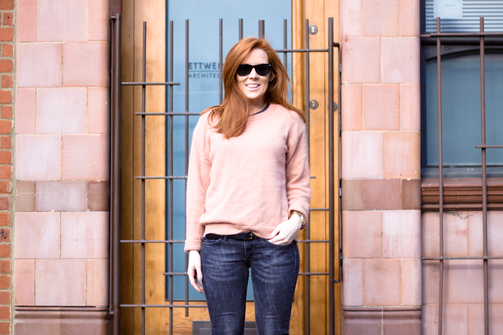 Essentiel  Jumper/ H&M jeans / Zara tee and heels
