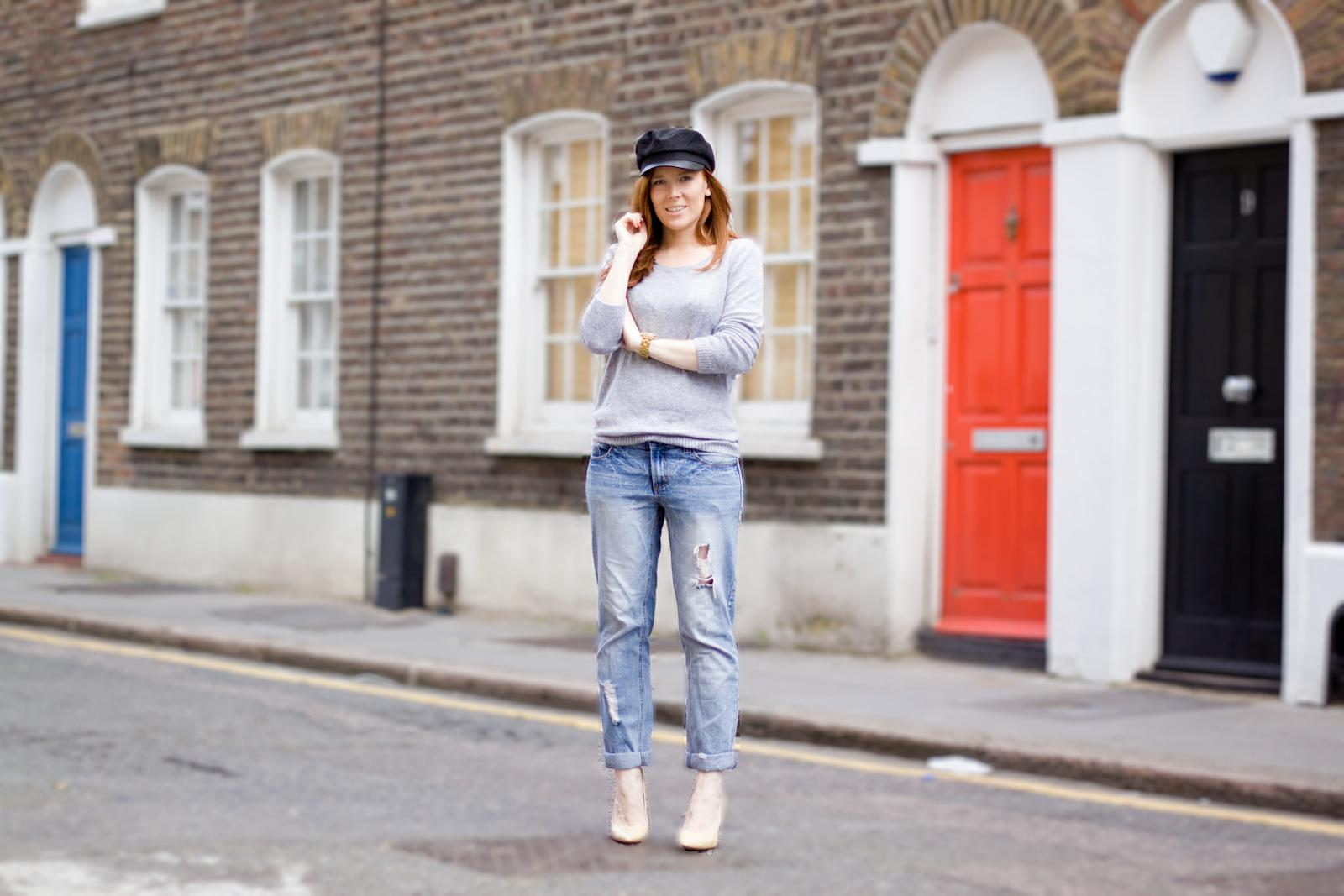 Urban Outfitters  cap /  H&M  jumper /  Asos  jeans /  Mango  heels